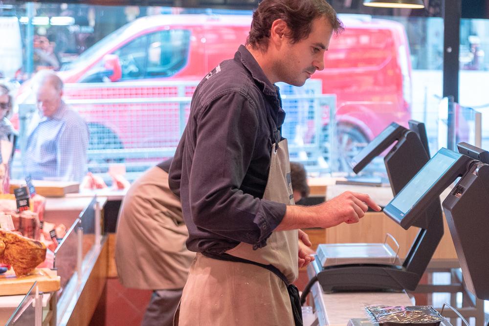 Commercieel bediende slagerij